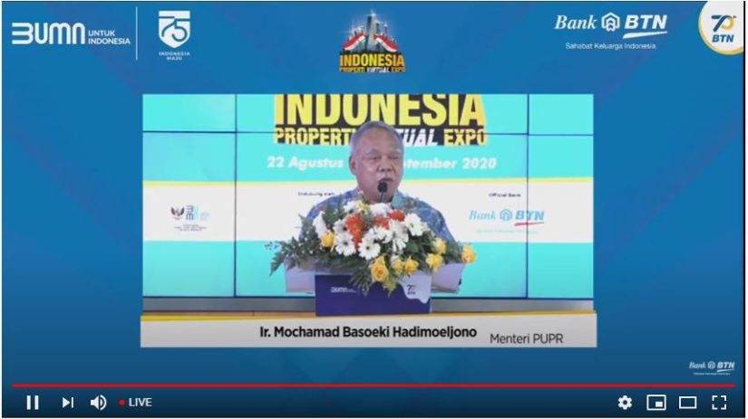 Hari Ini, Menteri PUPR Basuki Resmikan Indonesia Properti Virtual Expo 2020