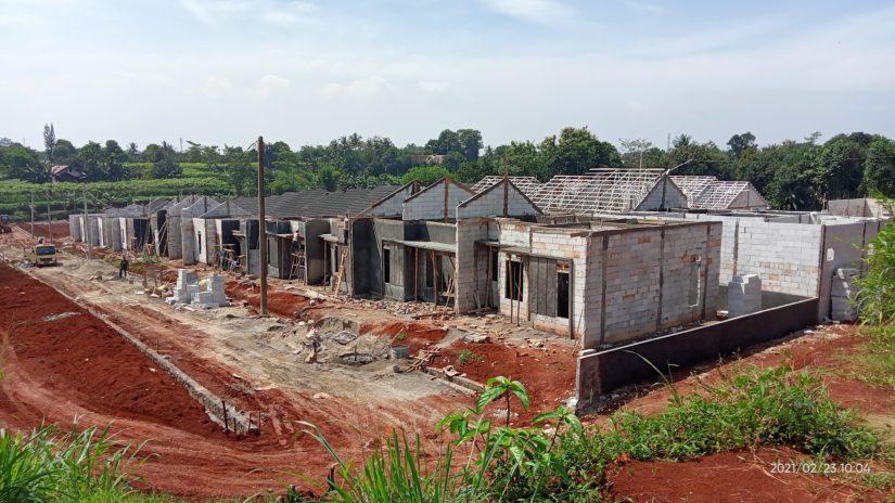 Progres pembangunan Grand TSM tahap 3 di Tajurhalang, Bogor. (Foto: WG)