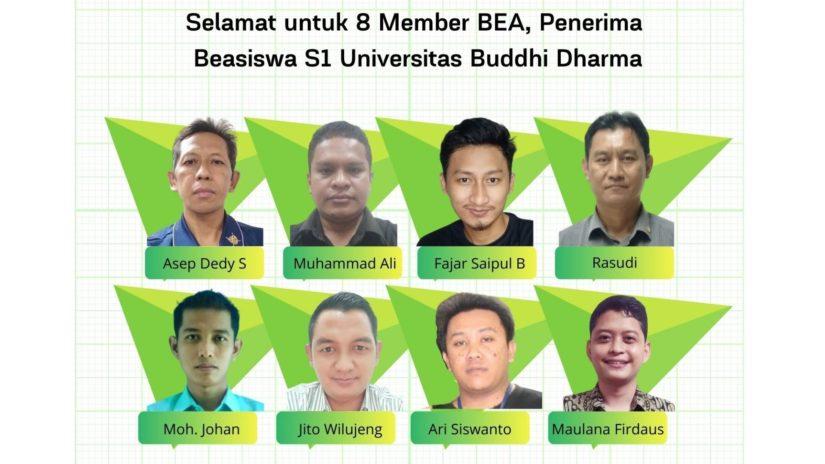 Selamat, BEA Indonesia mengumumkan penerima Beasiswa S1 Univ Buddhi Darma