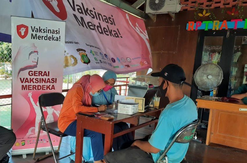 Polres Kep Seribu, Gencarkan Vaksinasi Merdeka Covid-19