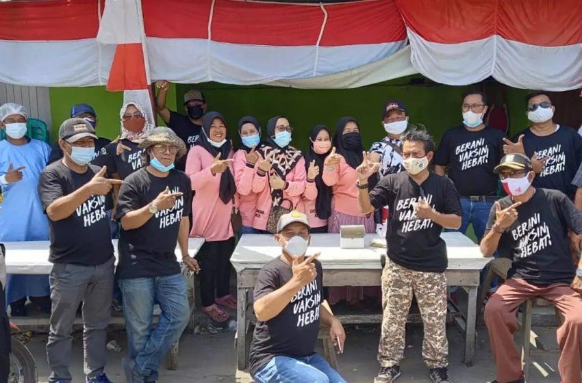 Eleman Masyarakat Kalibaru Kampanye Gerakan Berani Vaksinasi Hebat