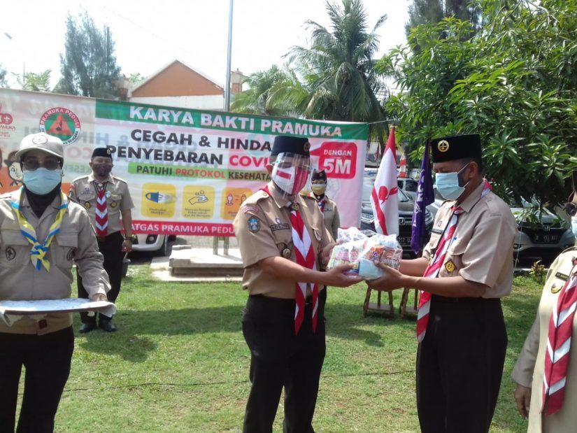 Kwarcab Pramuka Jakarta Utara gelar Karya Bakti. (Foto: Amin Hidayat)