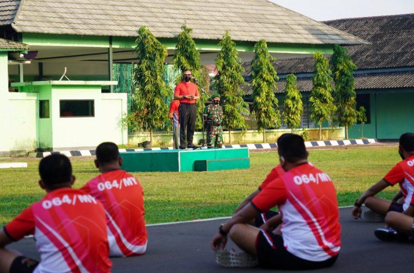 Apel Perdana, Danrem 064/MY Ajak Anggota Jaga Kebersihan Lingkungan